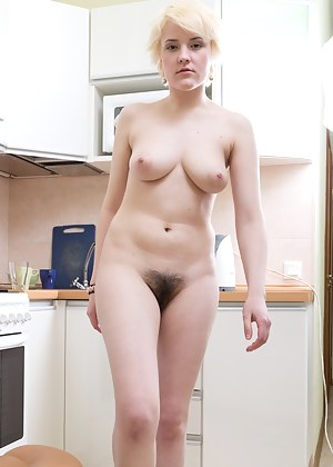Kira spies herself in the mirror and notices how hot she is. She takes off her top to check out her body before going all out in this hirsute porn. Watch her play with her hairy body now!