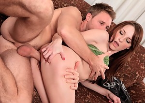 Horny Nubile gets her pussy pounded really hard from behind