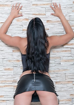 Bianka is a busty babe who just loves to play with her snatch. Let her show you her hairy pussy as she strips down to bare all. Spreading her legs apart, you can see that her cunt is ready to be penetrated.