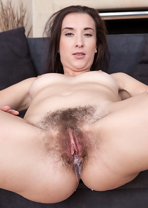 Jessica Patt and her boyfriend are getting hot and heavy. He slides his hand under her mini skirt to play with her hairy pussy and winds up sticking his stiff hard rod into it.