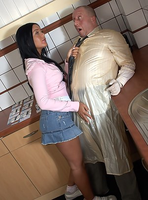 Hot and willing teenage sweetie screwing the horny doctor